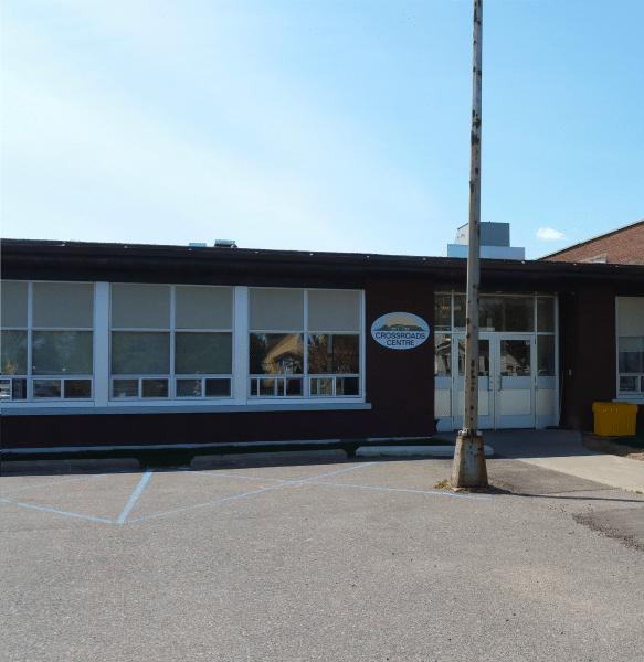 Crossroads Centre Building, Front view